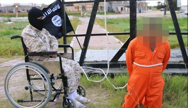 "Wheelchair Bound ISIS Executioner Crucifies ""Spy"" in New Propaganda PICS"