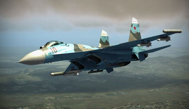 Russian Warplanes Target Terrorists Positions in Aleppo Province
