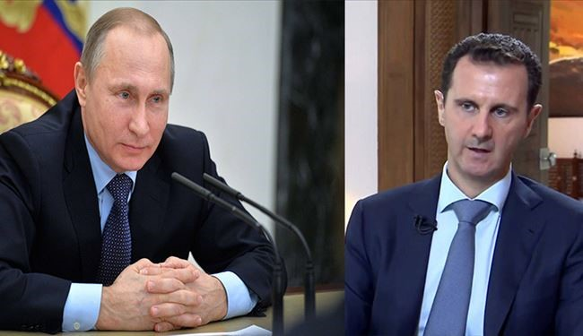 Assad, Putin Stress Importance of Going ahead in Combating ISIS, Jabhat al-Nusra, Other Terrorists