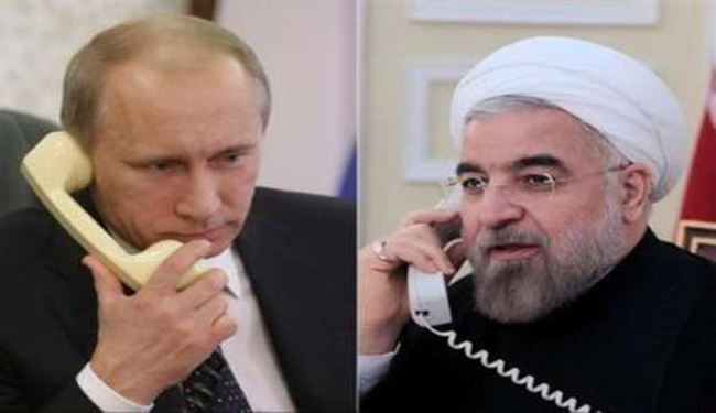 Rouhani, Putin Discussed Syria Developments, Ceasefire, Aid on Phone