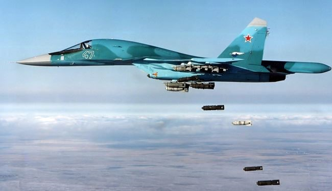 Russian Fighter Jets Target ISIS Military Sites in Southeastern Homs
