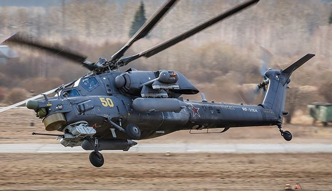 Russian MI-28N Helicopter Collapses in Syria due to Technical Problem