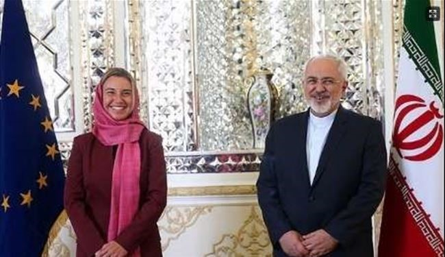 Iran's Zarif and EU FP Cheif Mogherini Hold Talks in Tehran
