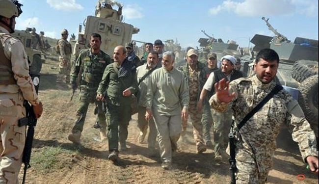 General Soleimani in Fallujah against ISIL at Baghdad's Demand: Iraqi Commander