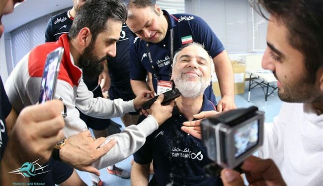 PHOTOS: Iran Qualifying for Olympics Costs Team Manager to Lose His Beard