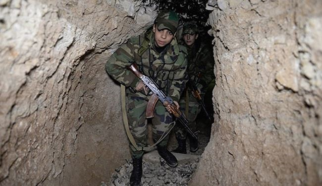 Syrian Army Destroys Al-Nusra Large Tunnel in East Ghouta, Damascus