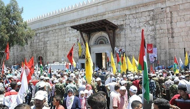 PHOTOS: Syrian People Mark International Quds Day in Damascus