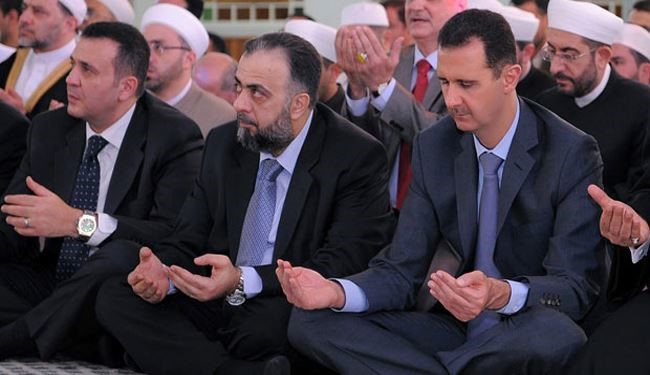 Syria's Bashar Assad Joins Eid al-Fitr Prayers in City of Homs
