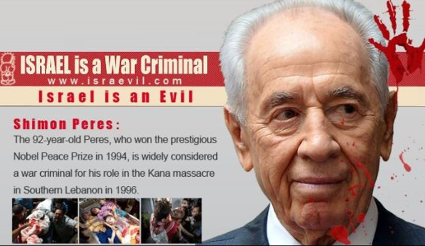 Shimon Peres: Israeli War Criminal Who West Give Him Peace Prize