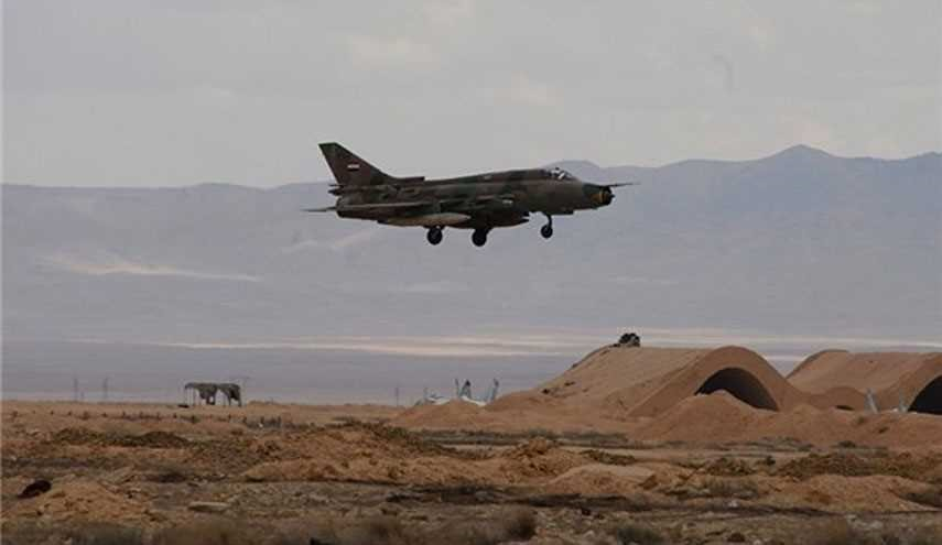 Syrian Fighter Jets Pound Terrorists' Vehicles in Idlib