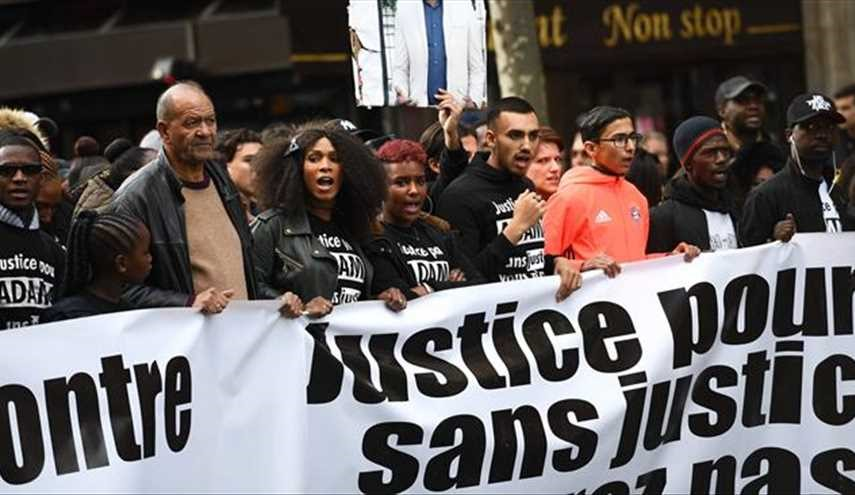 French Protesters Demand Justice for Black Man Died in Police Custody