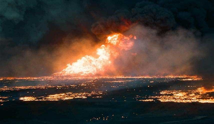 Firefighters Battle Flames in Qayyarah Oilfields