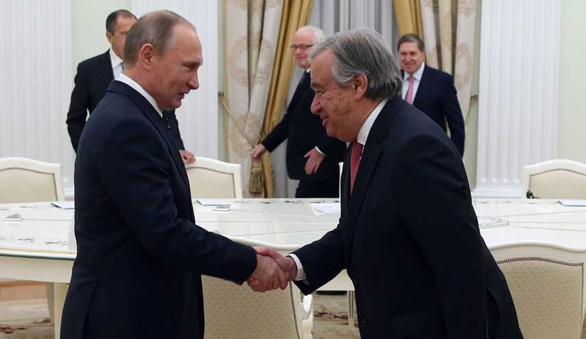 Russian President Putin Meets Next UN Chief Antonio Guterres