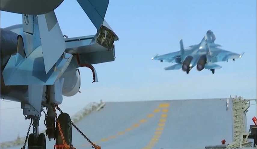 Su-33 Fighter Jet Crashes from Russia's Admiral Kuznetsov Aircraft Carrier