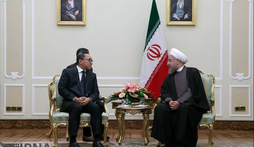 Iran President Met Indonesian Head of People's Consultative Assembly