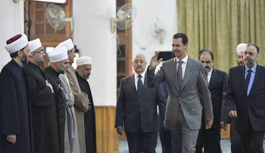 Assad Attends Prayers Marking the Prophet Mohammad's Birth Anniversary