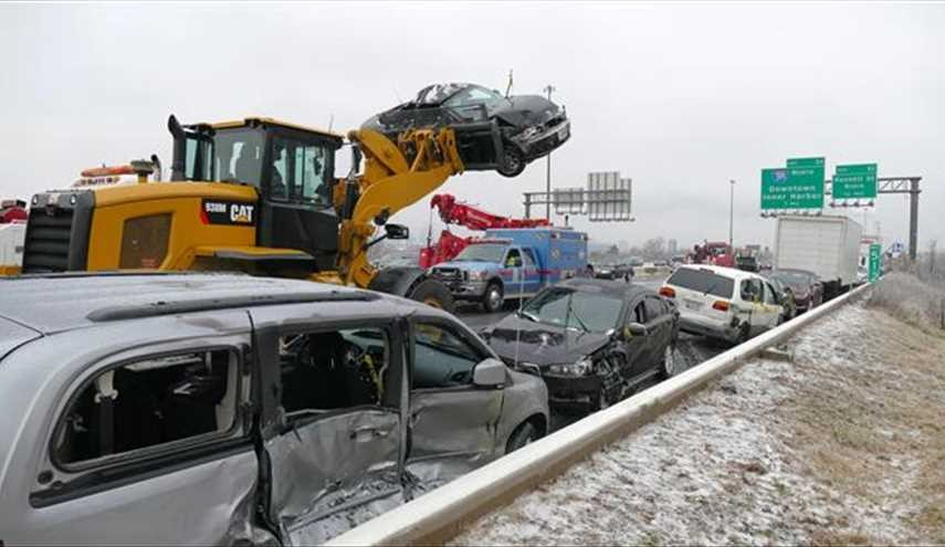 PHOTOS: Ice Storm Near Washington Causes 100s of Road Crashes, Killing 4, injuring many