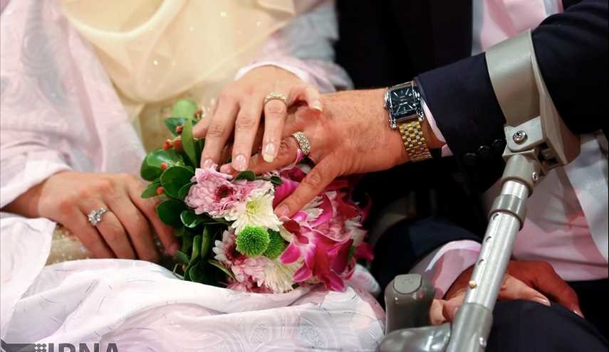 Wedding ceremony of 55 disabled couples in Tehran