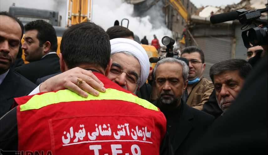 President Rouhani visits Plasco site