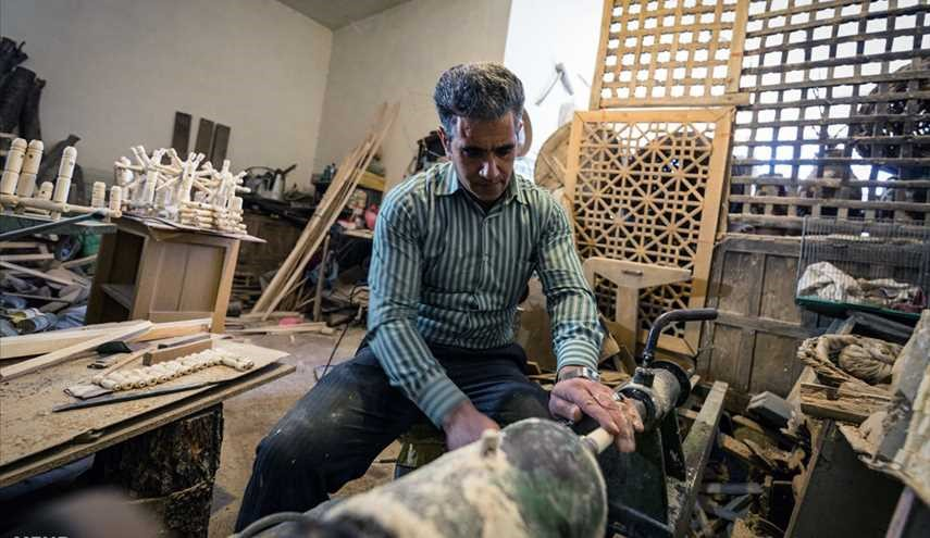 Spoon carving, woodwork in Khansar