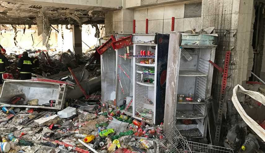 Casualties of hypermarket blast in Shiraz