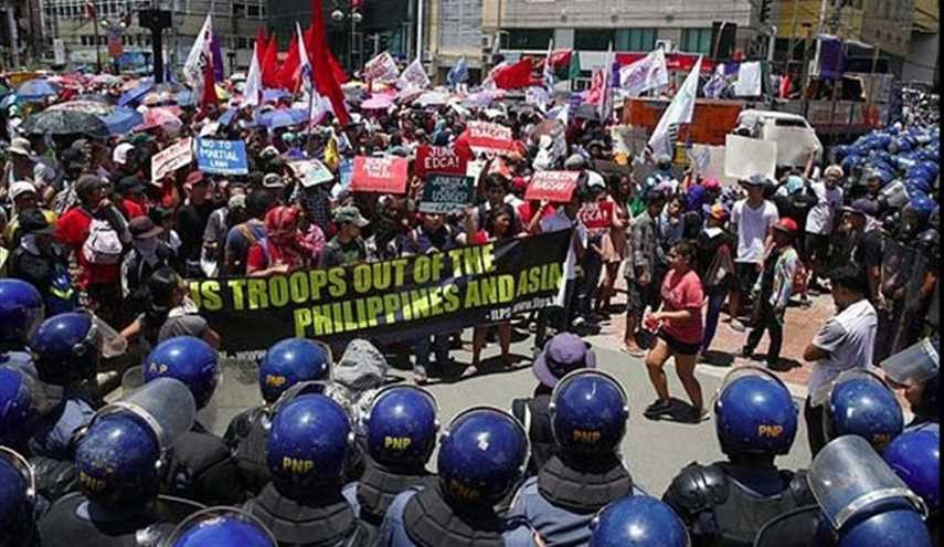 Protesters Denounce US Military Role in Philippines