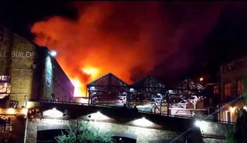 Huge Fire Rips through London's Camden Market