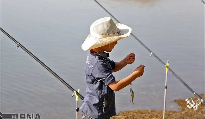 Summertime recreational fishing festival