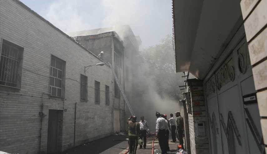 Fire in the warehouse on Baharestan Square / Images