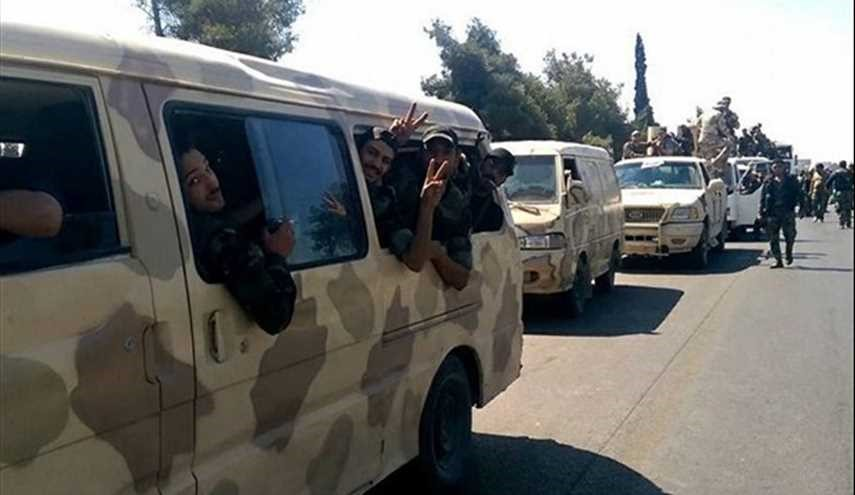 Huge Convoy of Syrian Army Reinforcements Arrive in Eastern Hama