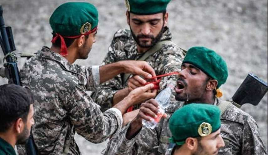 Iranian IRGC Forces Take Part at Seaborne Assault Contest during 2017...