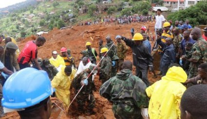 Deadly mudslide in Sierra Leone