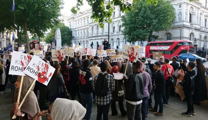Londoners protest in solidarity with Rohingyas