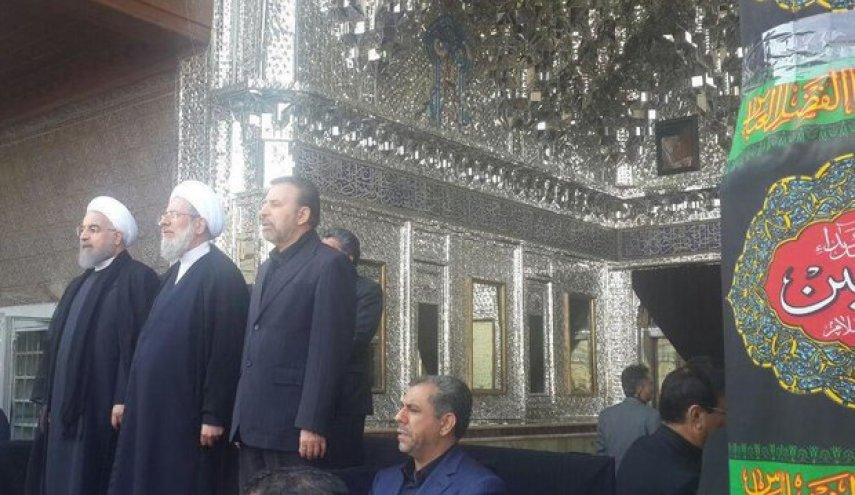 Pres. Rouhani attends Ashura mourning at Shah-Abdol-Azim shrine