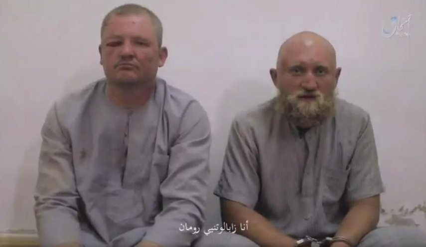 Isis releases video of captured Russian soldiers that Russia denies losing in Syria