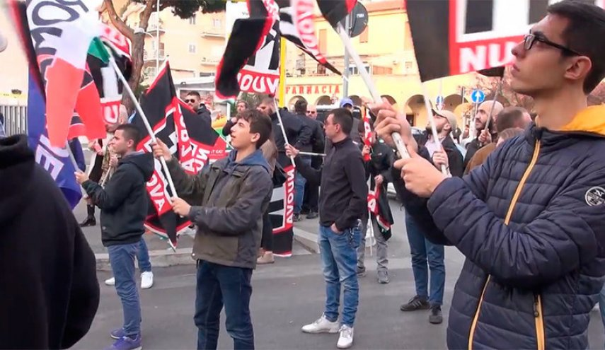 Supporters of far-right Italian party rally in Rome