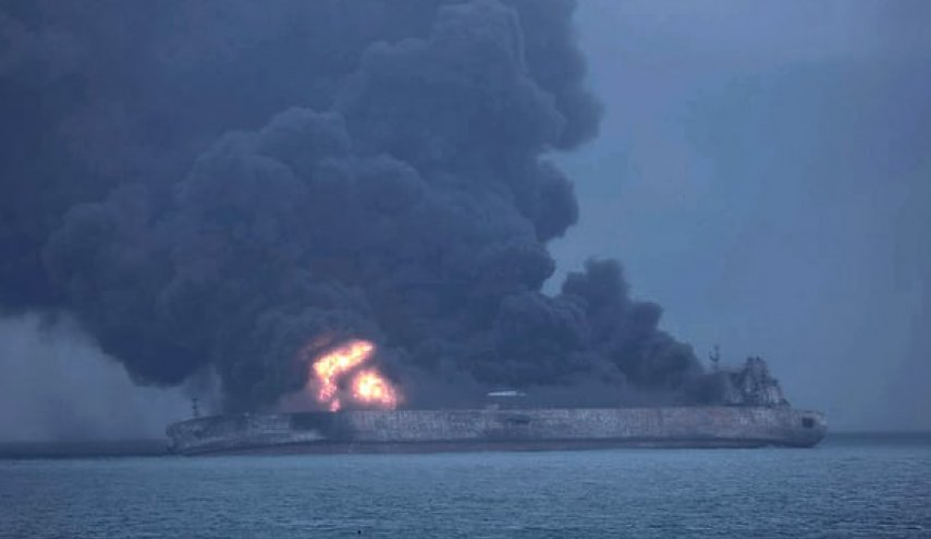 Body found on burning Iranian oil tanker