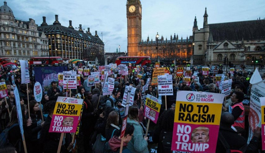 UK blames protests as Trump cancels London trip
