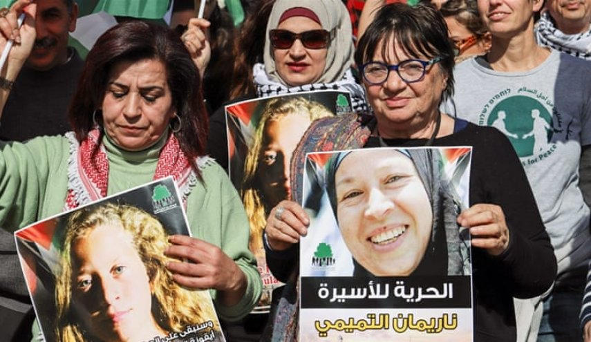 Palestinian protesters demand Ahed Tamimi's release