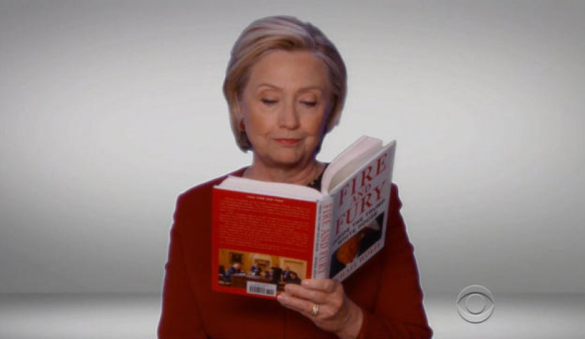 Hillary Clinton reads