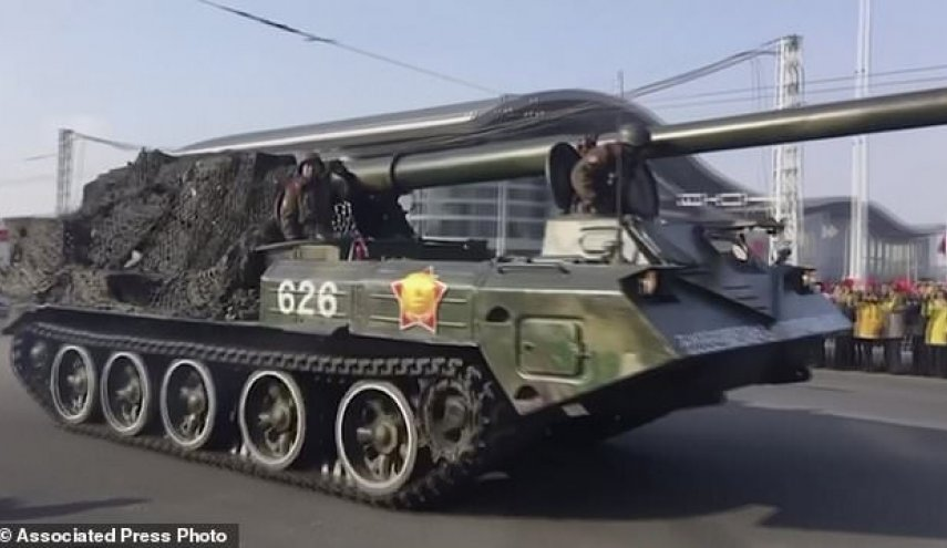 North Korea has military parade on eve of Olympics in South