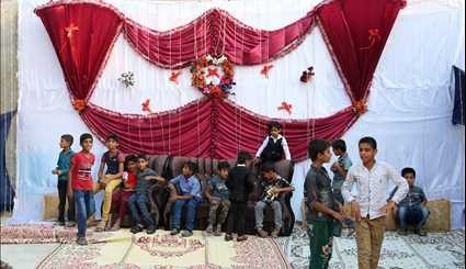 A traditional wedding ceremony in Qeshm island