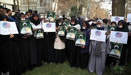 Iranian People Stage Protest Rally against Massacre of Shiites in Bahrain, Nigeria