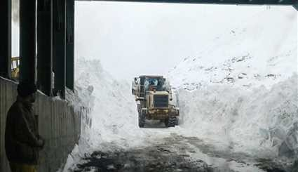 Chalus road after avalanche