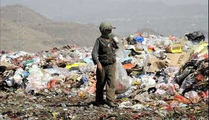 Children Search for Recyclable Items in Garbage Dump of Yemen