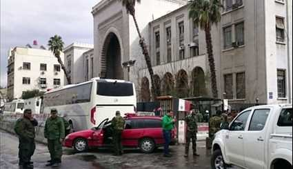 Twin Blast Rocks Central Damascus, Leaving at Least 32 Dead