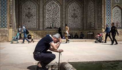 Nowruz tourists in Vakil Mosque of Shiraz
