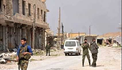 Aleppo: Syrian Army Soldiers Patrol in Recently Liberated City of Deir Hafer