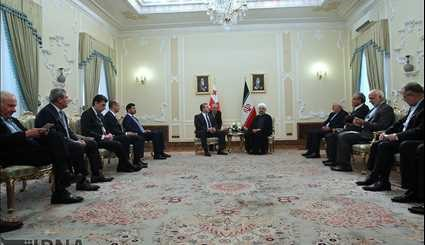 President Rouhani meets Georgian PM