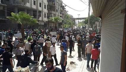 Militants Attack Civilian Protesters Decrying Their presence in Eastern Ghouta